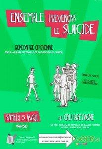 Affiche Rencontre citoyenne prévention suicide