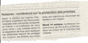 OF conf protection des proches