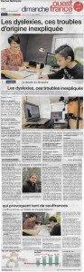 Article Ouest France Dyslexie 29 oct 2017